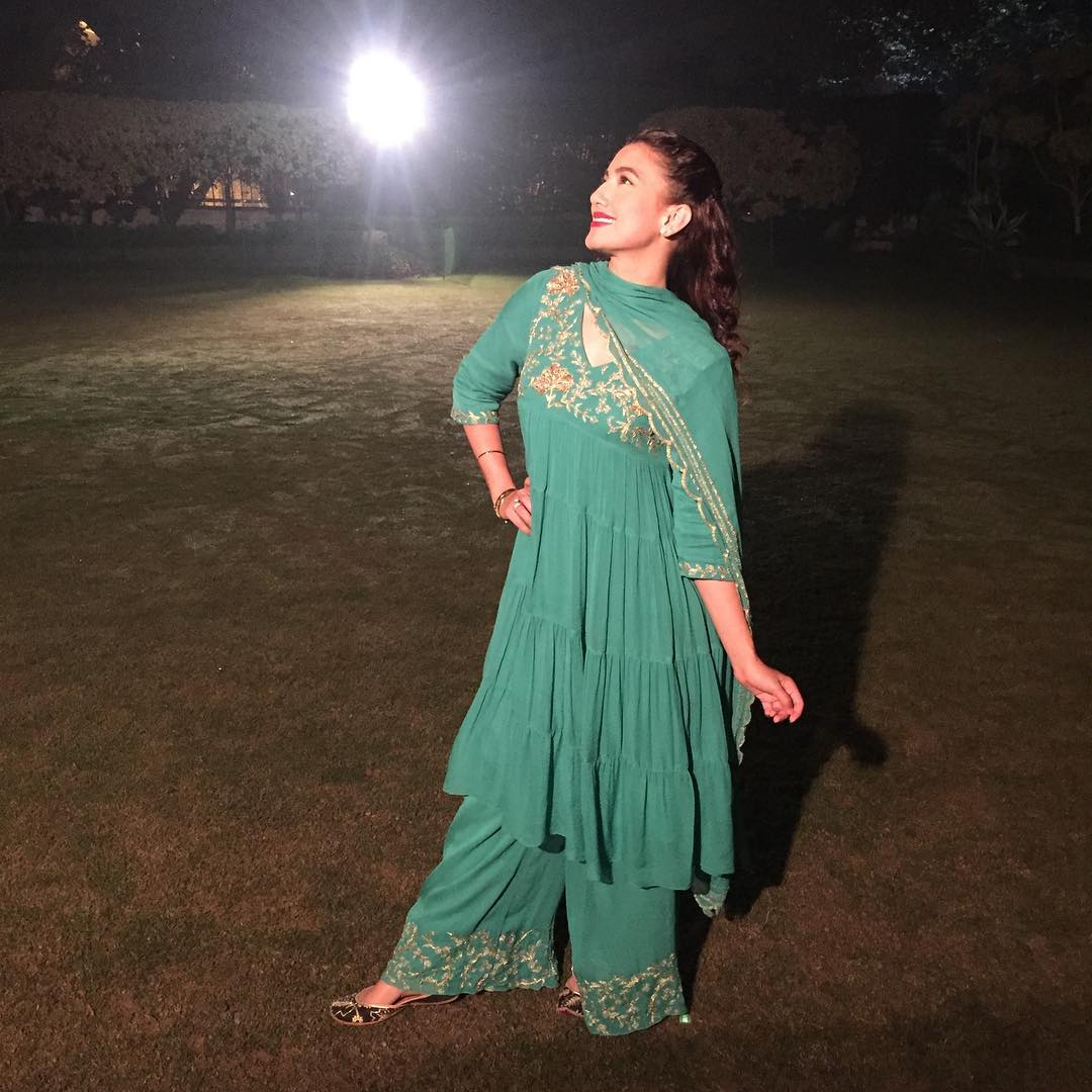 Gauhar Khan in Samatvam by Anjali Bhaskar | Indian Fashion News Celebs Wearing