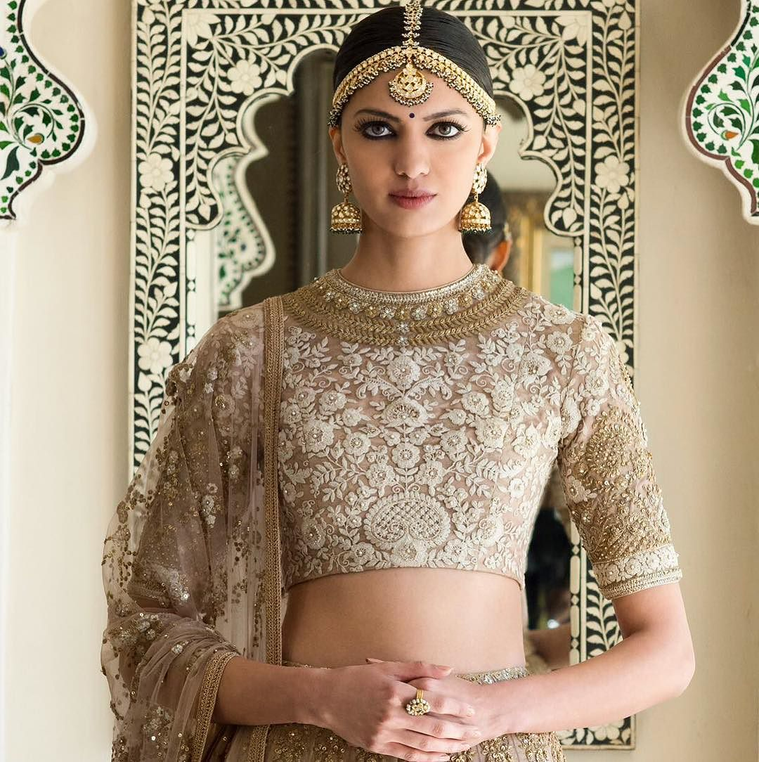Embroidered Beige Sabyasachi Lehenga From The Udaipur