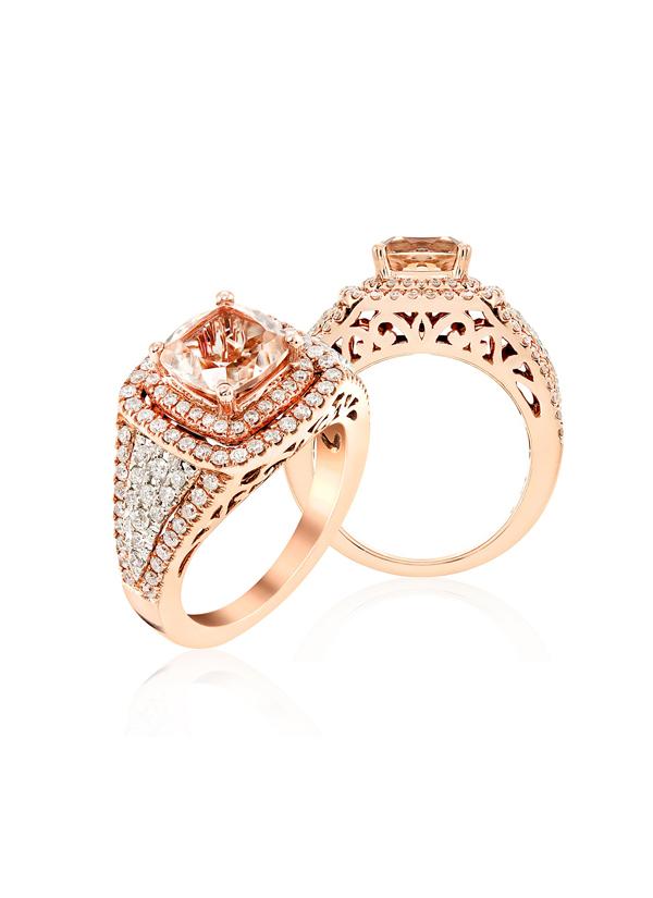 Strand of Silk | Stunning Pink Gold Ring | Shop at strandofsilk.com