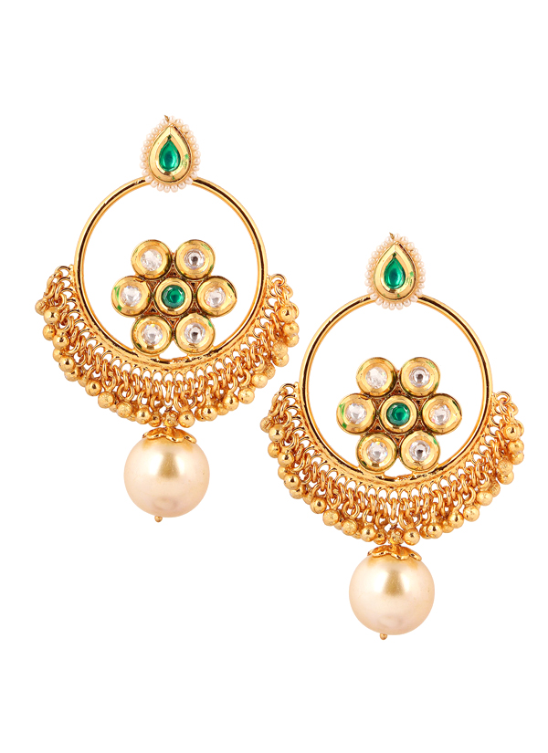 Yosshita and neha pearl drop chandelier earrings shop earrings indian accessories designers yosshita neha indian designer jewellery earrings yn mozeypictures Choice Image