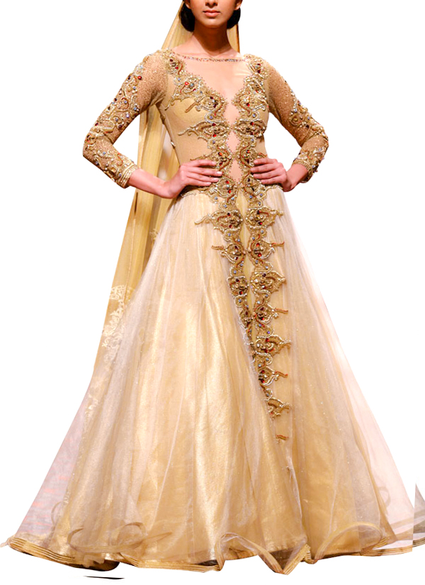Mandira Wirk | Regal Golden Gown | Shop Gowns at strandofsilk.com