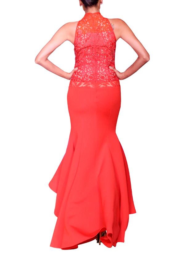 Mandira Wirk   Red Asymmetric Neoprene Gown   Shop Gowns at ...