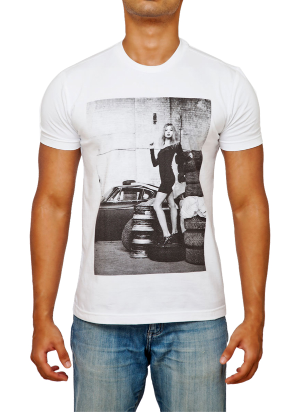 Fighting Fame | White Rugged Look T-Shirt | Shop T Shirts at ...