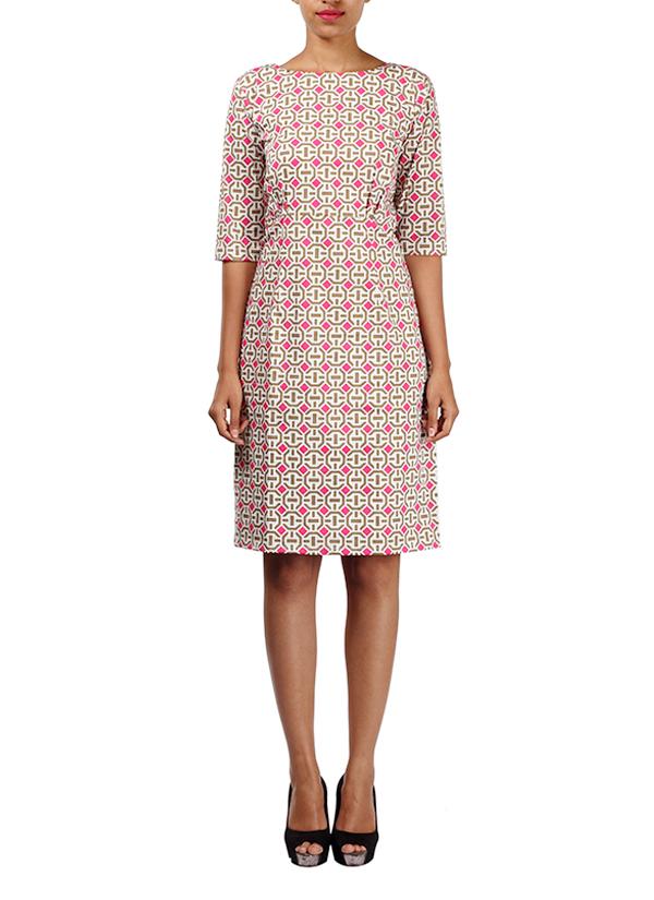 Michelle Salins | Geometrical Printed Shift Dress | Shop Dresses ...