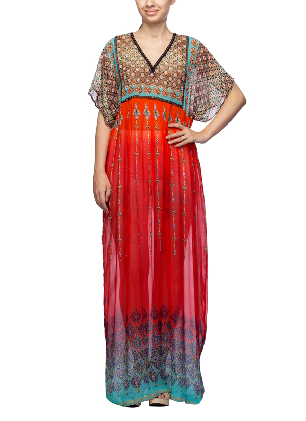 Satya Suman | Printed Crystal Embellished Gown | Shop Gowns at ...