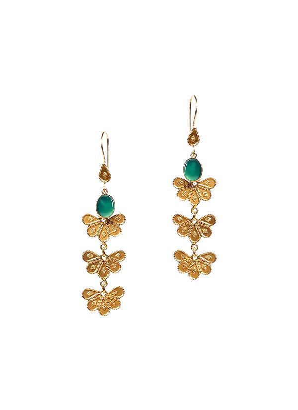 Silvermerc Delicate Dangling Gold Earrings Shop at strandofsilkcom