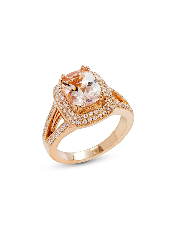 c17b2b7e453 Indian Fashion Designers - Strand of Silk - Contemporary Indian Designer -  Cushion Cut Diamond Ring