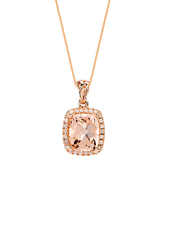 Strand Of Silk Rose Gold Pendant Necklace Shop At