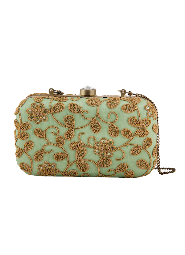 The Purple Sack | Mint Green Clutch Bag | Shop Bags at ...