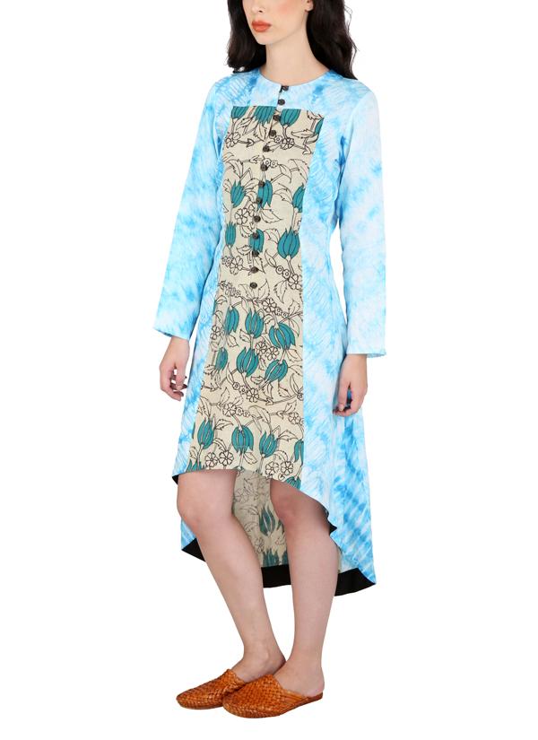 910f944f66e ... Indian Fashion Designers - Yosshita   Neha - Contemporary Indian  Designer - Linen Hand Painted Kalamkari ...