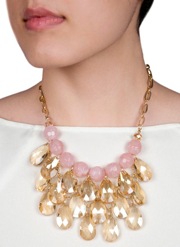 Rhea pink chandelier necklace shop necklaces at strandofsilk indian accessories designers rhea indian designer jewellery necklaces rh ss15 aloadofball Gallery