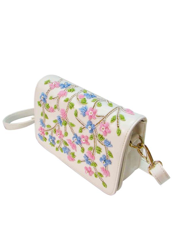 Tresclassy | White Floral Sling Bag | Shop Bags at strandofsilk.com