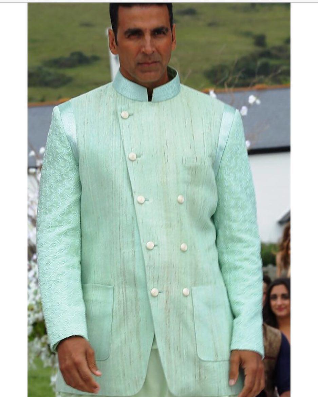 Akshay Kumar in a Sea Green Sherwani by Manish Malhotra | Manish ...