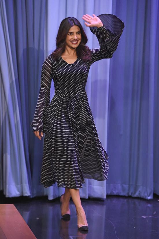Priyanka Chopra Looks Graceful In Rosetta Getty Dress