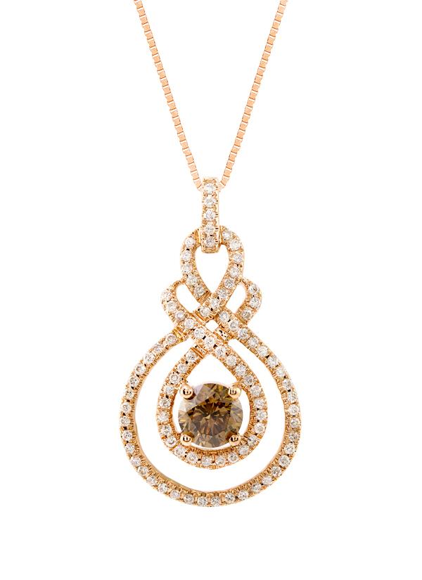 Strand of silk brown diamond pendant necklace shop at indian accessories designers costar indian fine jewellery designer neckalces sos ss15 aloadofball Choice Image