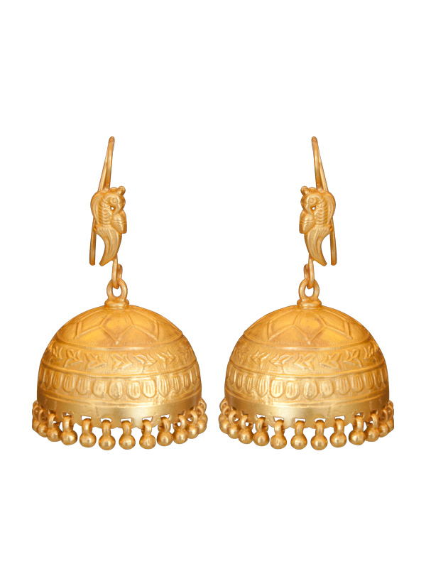 Roopa Vohra Dynamic Gold Plated Jhumkas Shop Earrings At