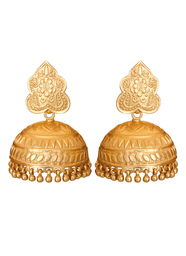 Roopa Vohra | Gorgeous Gold Plated Jhumkas | Shop Earrings at ...