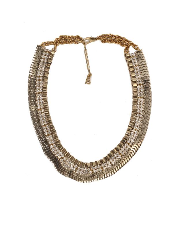 Sannam Chopra | U Turn Crystal Necklace | Shop Necklaces at ...