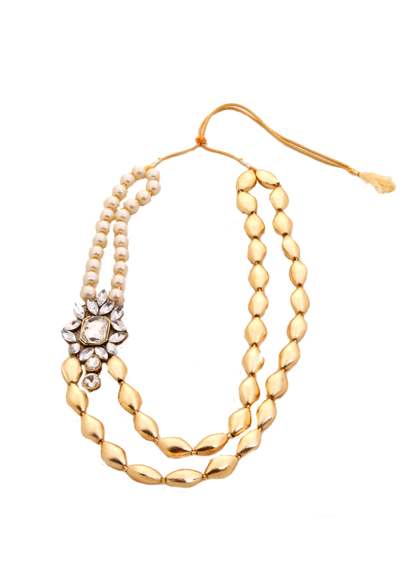 Shillpa Purii | Crystal Brooch Layered Necklace | Shop Necklaces ...