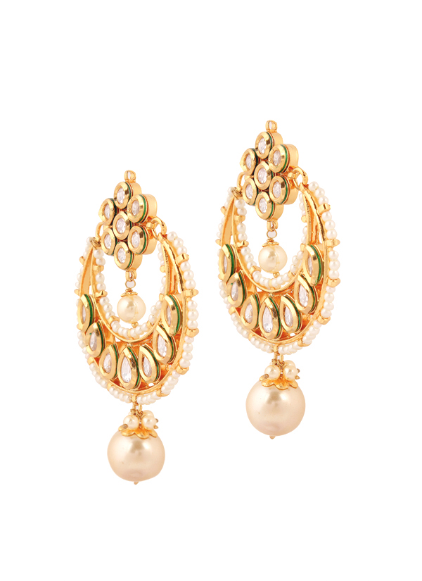 Yosshita and neha crescent shaped chandelier earrings shop indian accessories designers yosshita neha indian designer jewellery earrings yn aloadofball Choice Image