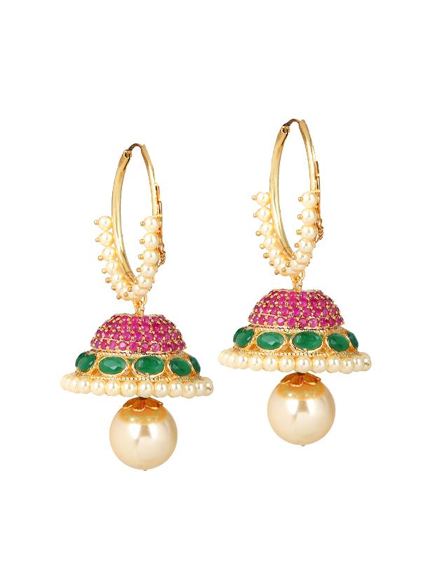 Yosshita and Neha | Pretty Kundan Jhumkas | Shop Earrings at ...