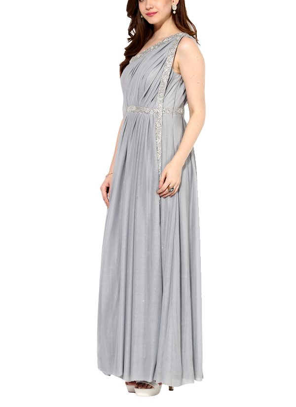 House of Trove | Smokey Platinum Off-shoulder Gown | Shop Gowns at ...