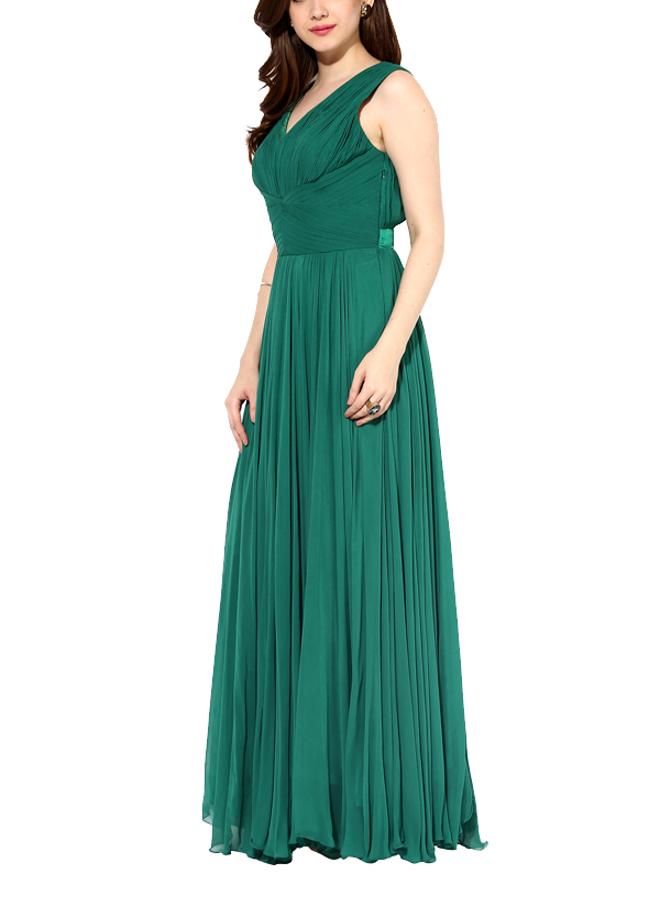 House of Trove | Emerald Green Draped Gown | Shop Gowns at ...