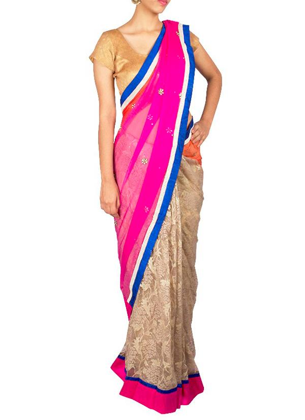 Priti sahni striking chantilly lace saree shop sarees at indian fashion designers priti sahni contemporary indian designer clothes sarees prs aloadofball Gallery