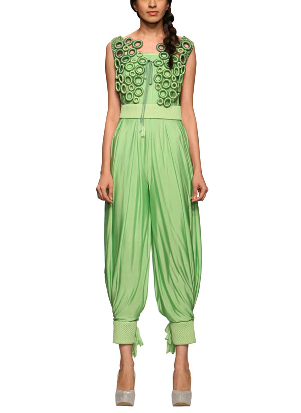 Rinku Sobti Eclectic Green Jumpsuit Shop Jumpsuits At