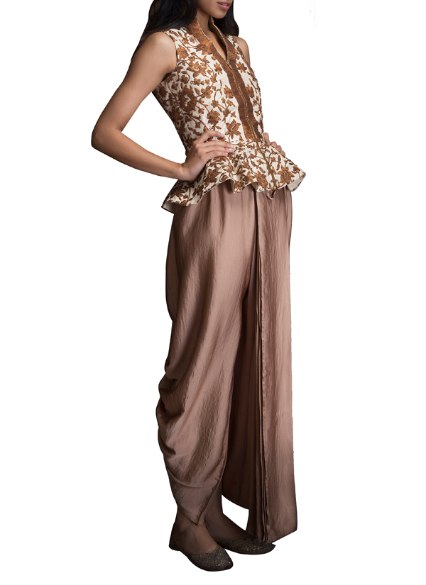 Siddartha tytler stylish dhoti pants set shop trousers Contemporary fashion designers