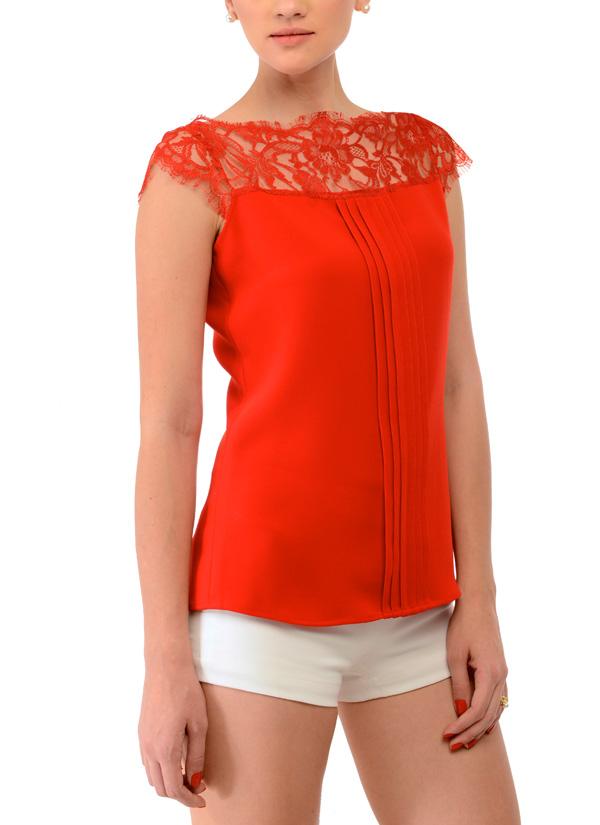 Indian Fashion Designers   Swatee Singh   Contemporary Indian Designer  Clothes   Tops   SWS. Swatee Singh   Ravishing Red Top   Shop Tops at strandofsilk com