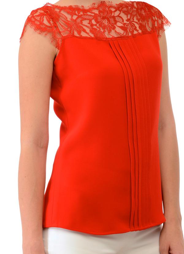 Swatee Singh Ravishing Red Top Shop Tops At
