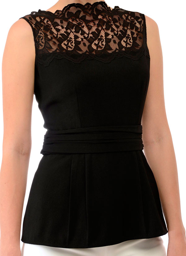 swatee singh stunning black peplum top shop tops at