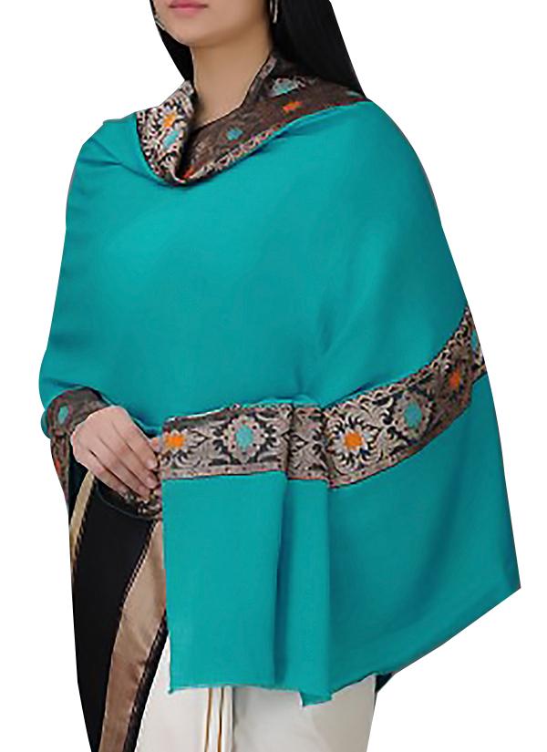 comprare popolare 3d419 bfece Turquoise Cashmere Shawl