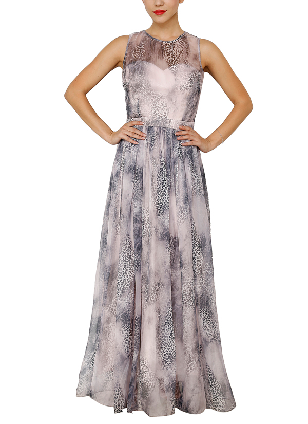 Aida | Leopard Print Gown | Shop Gowns at strandofsilk.com