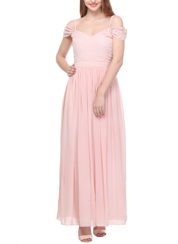 Aida | Baby Pink Gown | Shop Gowns at strandofsilk.com