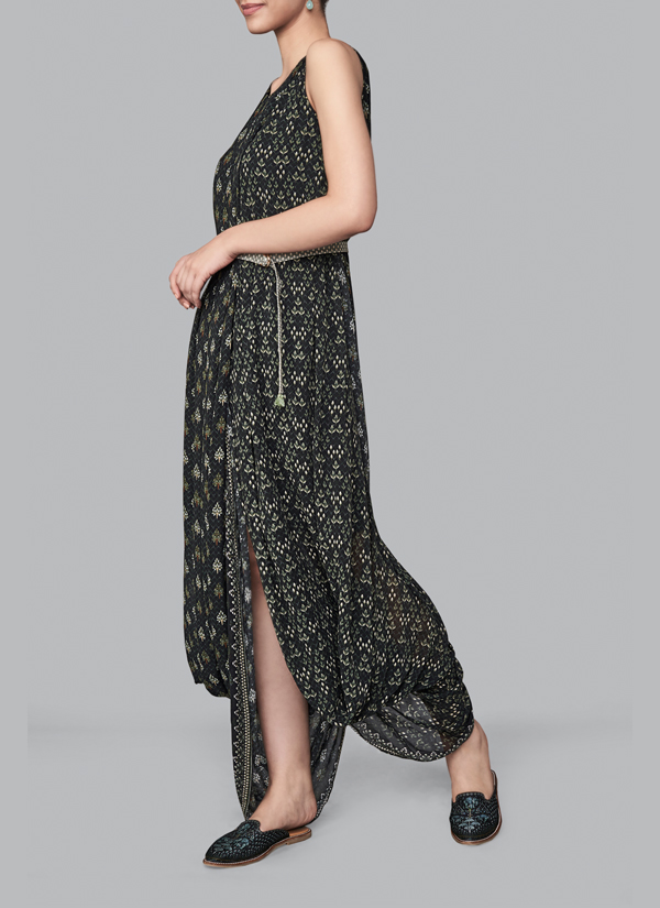 Anita Dongre   Giva Dhoti Gown   Shop Gowns at strandofsilk.com