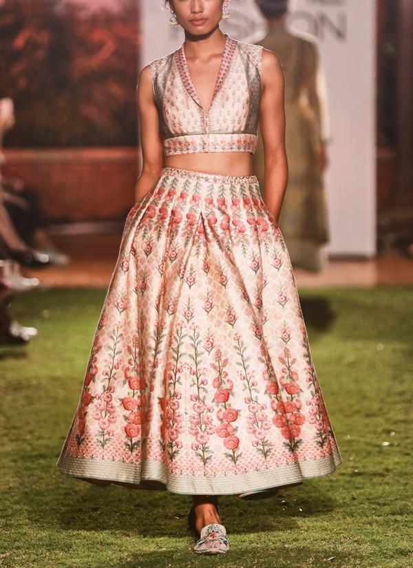 ce00b39536 Indian Fashion Designers - Anita Dongre - Contemporary Indian Designer - Varnika  Crop Top And Skirt