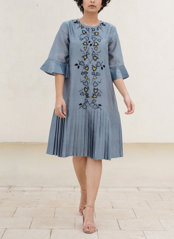 Pleated Bottom Dress