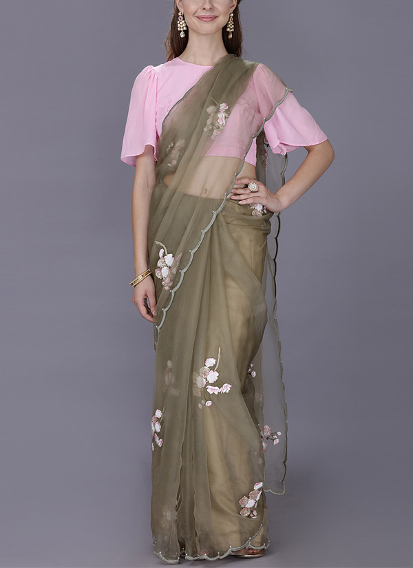 c382d847c0 Indian Fashion Designers - Kyra - Contemporary Indian Designer - Victorian  Charm Saree - KYA-