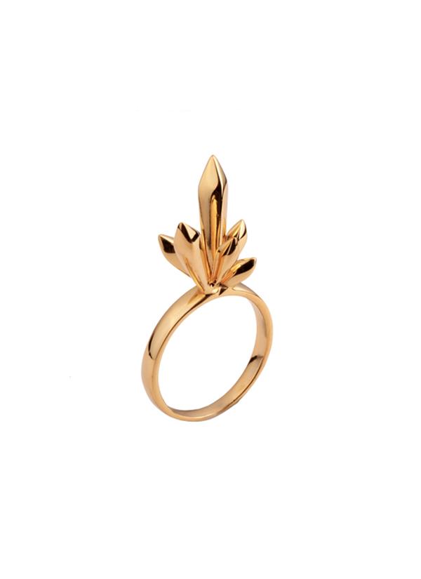 Mirakin | Crystalline Golden Ring | Shop Rings at strandofsilk.com