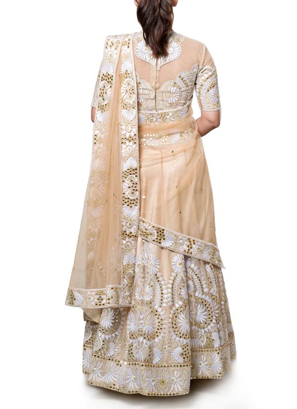 Neha Gursahani  Nude And Off White Lehenga  Shop -4346