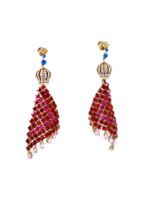 bd9c1387f Indian Fashion Designers - Nine Vice - Contemporary Indian Designer - Amore  Earrings - NIV-
