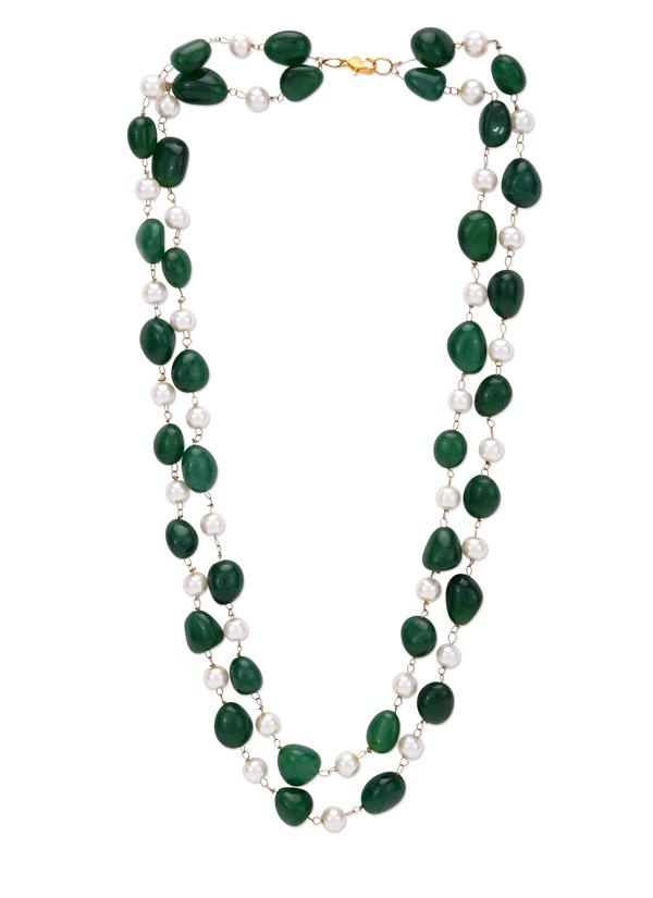 Kritisha Pearls And Emerald Green Onyx