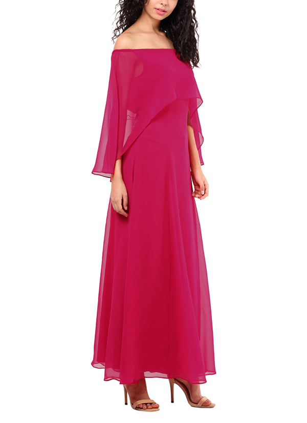 9ceb57c8b9 ... Indian Fashion Designers - Red Couture - Contemporary Indian Designer - Hot  Pink Cape Gown ...
