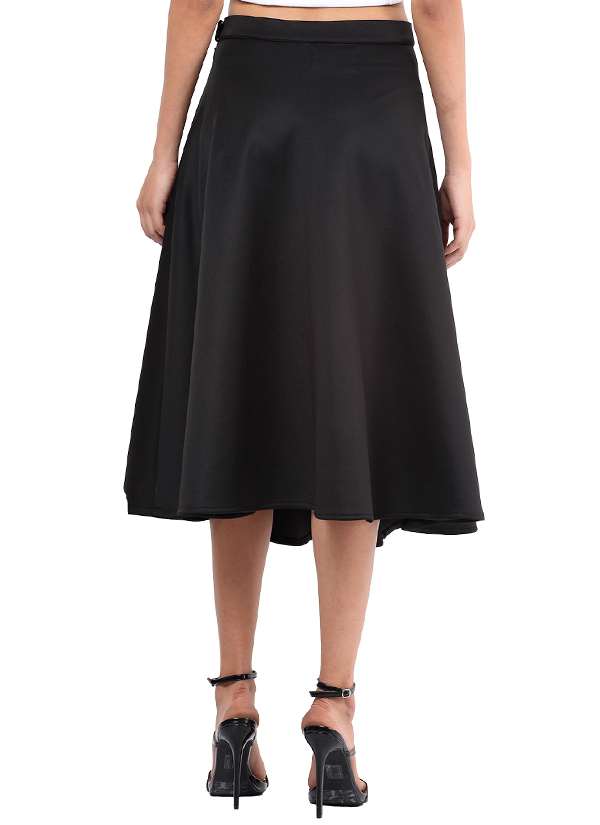 4a29c9a304 ... Indian Fashion Designers - Red Couture - Contemporary Indian Designer - Black  Knee Length Skirt -