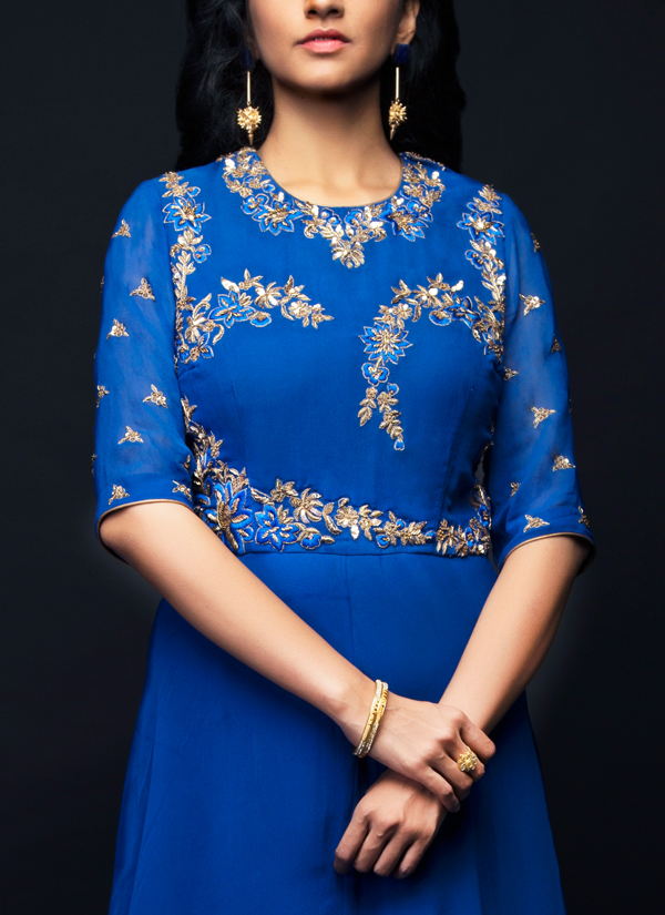 Image result for blue embroidered gown