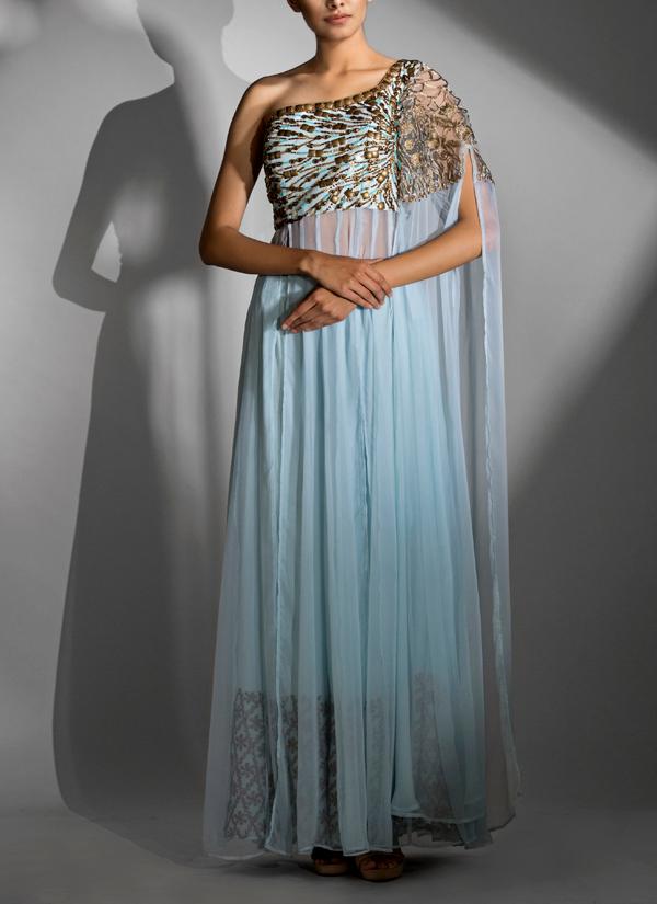 Designer One Shoulder Dress