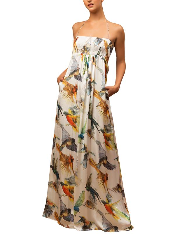 Siddartha Tytler Humming Bird Maxi Dress Shop Dresses
