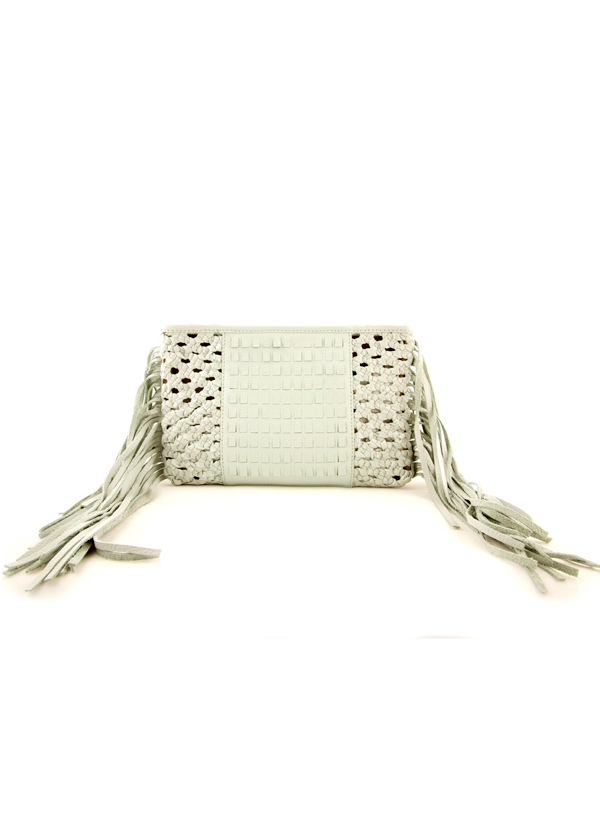 Suede by Devina Juneja   Mint Green Fringed